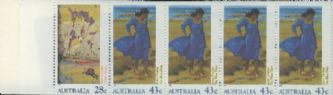 AUS SG1269a Heidelberg and Heritage Art Exhibition booklet pane (SB72) perf 14½